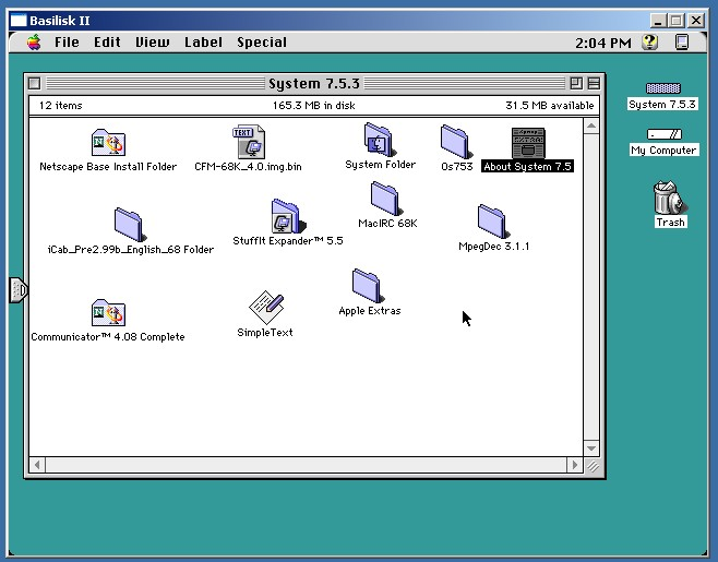 System 7.5.5 with Appearance Manager 1.0.4