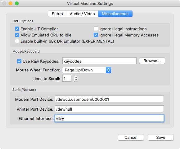 Setting up SheepShaver for OSX/macOS on Intel Macs [E